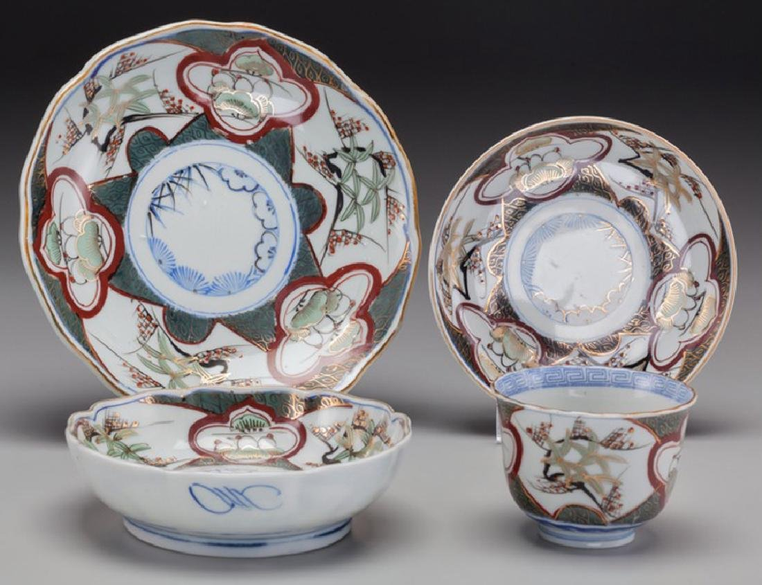 Japanese Imari Porcelain - A Twenty-Six Piece Japanese