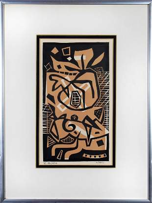 Otto Nebel, Untitled (Abstract Black and Brown)