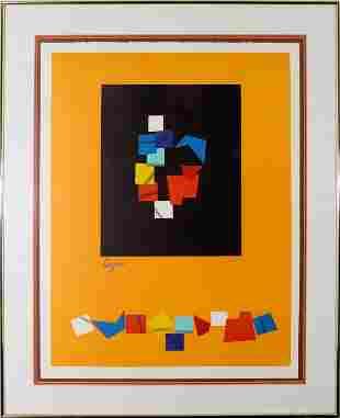 Yaacov Agam, Untitled (Geometric Shapes)
