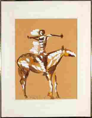 Marino Marini, Untitled (Figure on Horseback)