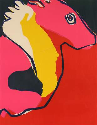 Karel Appel, Untitled (Animal Profile)