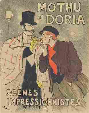 Theophile Steinlen, Mothu et Doria (Poster)