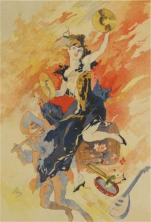 Jules Cheret, La Musique (Poster)