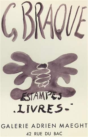 Georges Braque, Estampes Livres (Exhibition Poster)