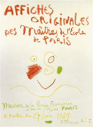 Pablo Picasso, Afiches Originales (Exhibition Poster)
