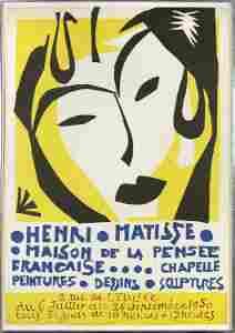 Henri Mattise, Maison De La Pensee (Exhibition Poster)