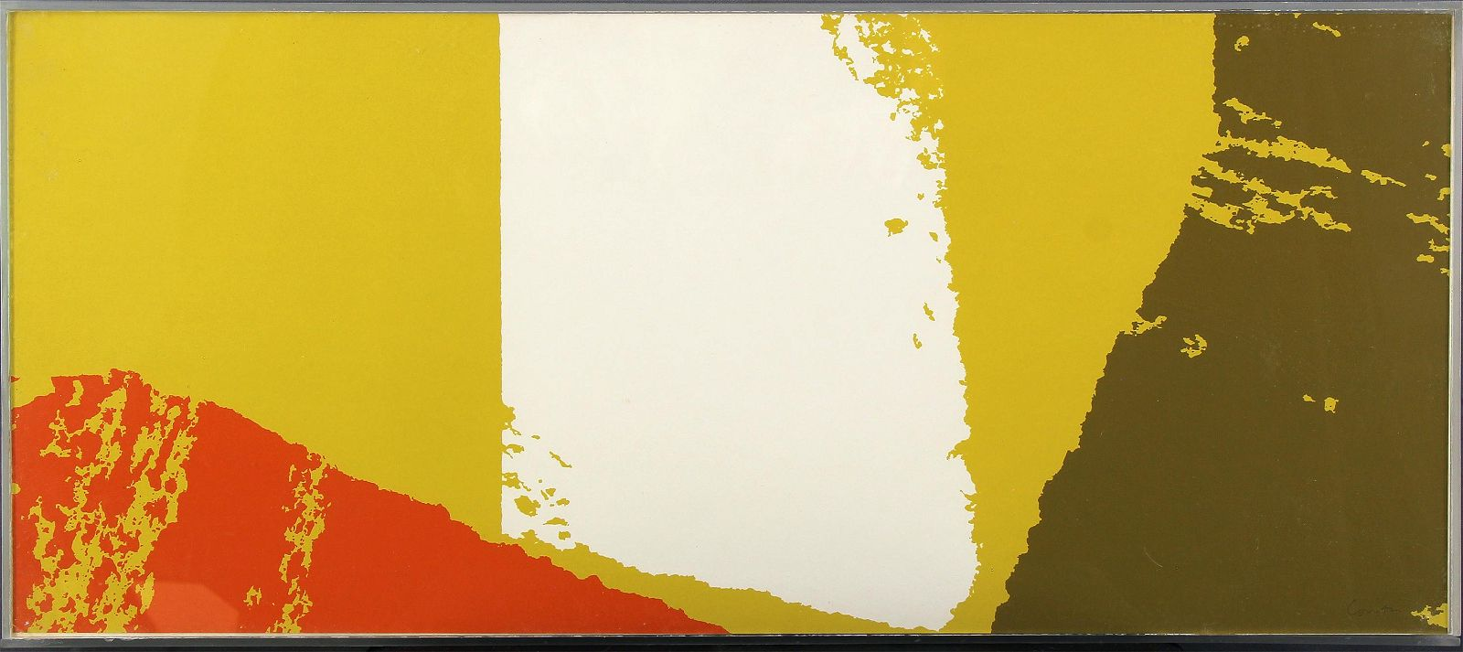 Sister Mary Corita Kent, Untitled (Abstract Orange and