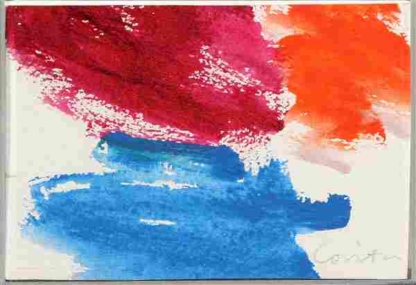 Sister Mary Corita Kent, Untitled (Abstract Purple, Red