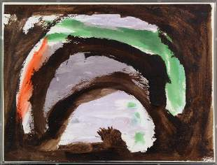 Sister Mary Corita Kent, Untitled (Abstract Brown and