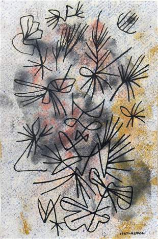 Otto Nebel, Untitled (Abstract Flowers)