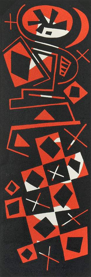 Otto Nebel, Untitled (Abstract Red and Black)