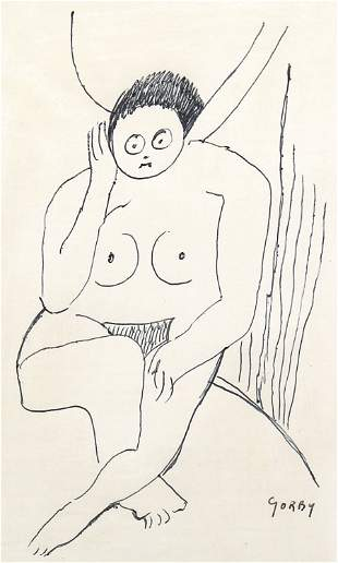 Gregory Gorby, Untitled (Seated Nude)
