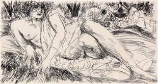 Andre Dunoyer de Segonzac, Untitled (Reclining Female)