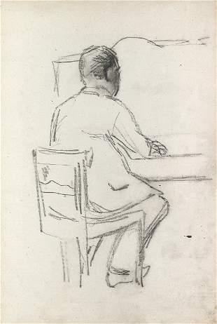 Lovis Corinth, Untitled (Man Seated at Desk)
