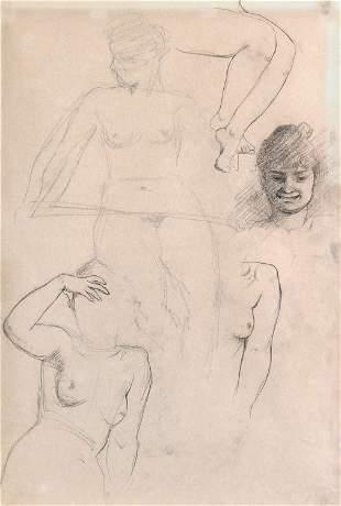 Lovis Corinth, Untitled (Nude Study)