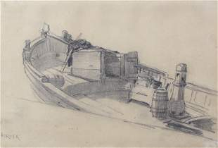 Louis-Adolphe Hervier, Untitled (Fishing Boat)