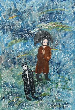 Unknown, Untitled (Two Men in the Rain)