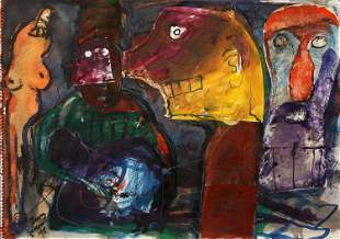 Barry Simons, Untitled (Abstract Figures)