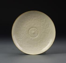 Chinese Antique Ding Ware Plate