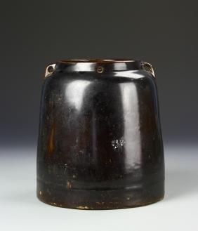 Chinese Antique Black Glazed Jar