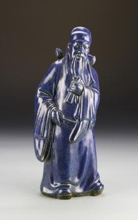 Chinese Blue Glazed Figure