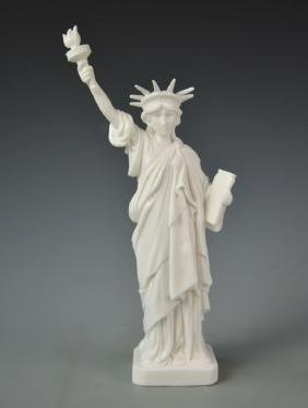 Chinese Blanc de Chine Statue of Liberty