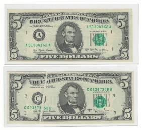 Five Misprinted U.S. Bank Notes