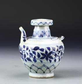 Chinese Blue and White Double Spout Teapot