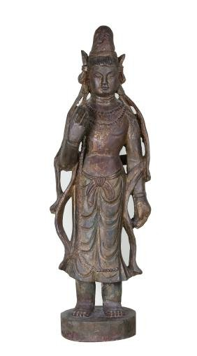 Chinese Wood Guanyin Statue