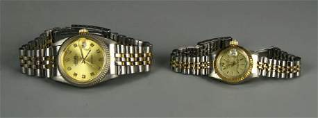 Two Watches Marked Rolex Mans