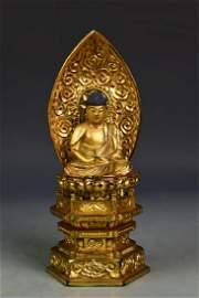 Japanese Gilt Wood Buddha
