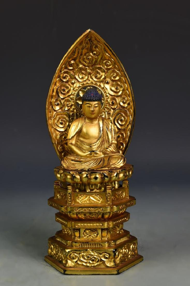 Japanese Gilt Wood Buddha