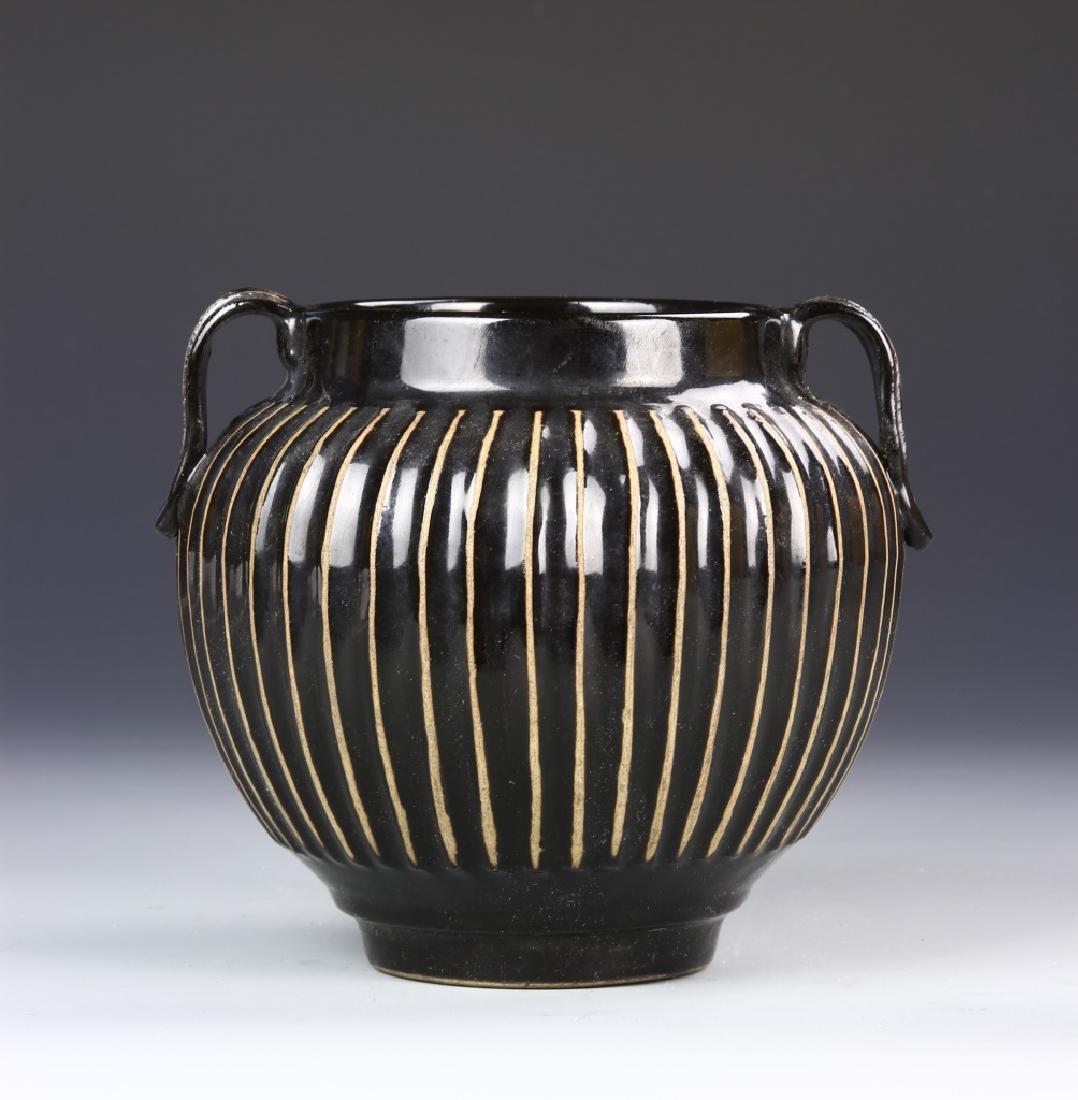 Chinese Ding Yao Black Vase