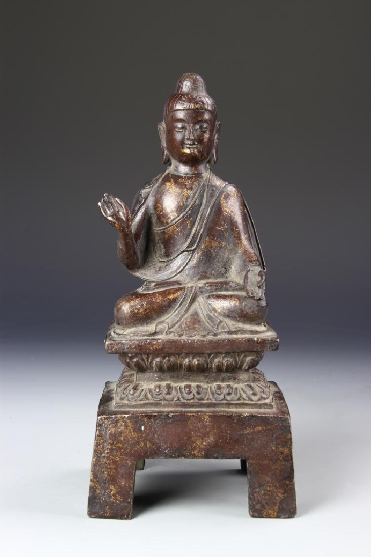 Chinese Antique Bronze Buddha
