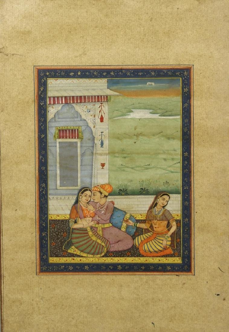 Old Indian Miniture Painting of Maharaja