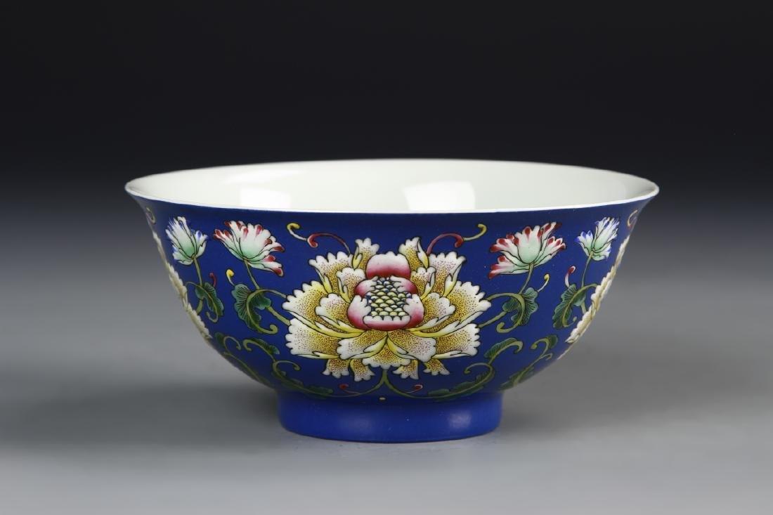 Chinese Enameled Famille Rose Bowl