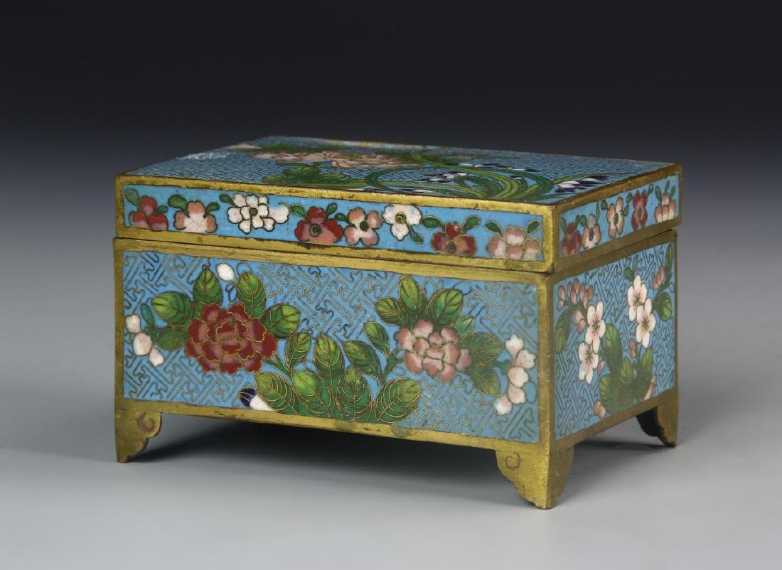 Chinese Cloisonne Scholar Box