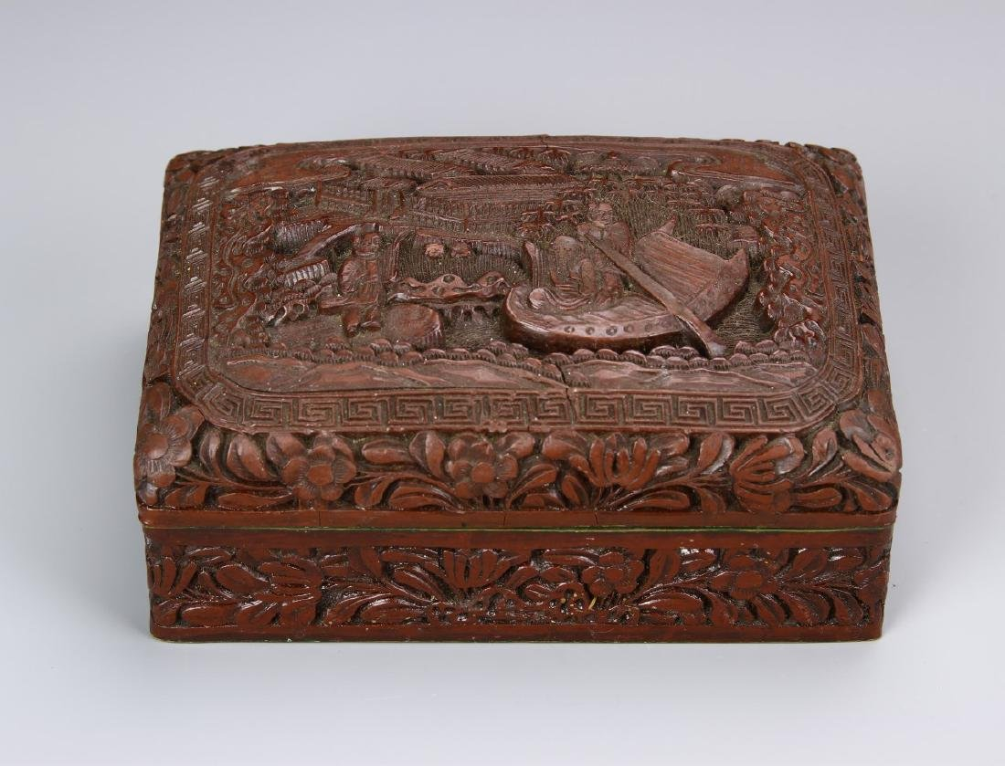 Chinese 19th Century Cinnabar Ink Box