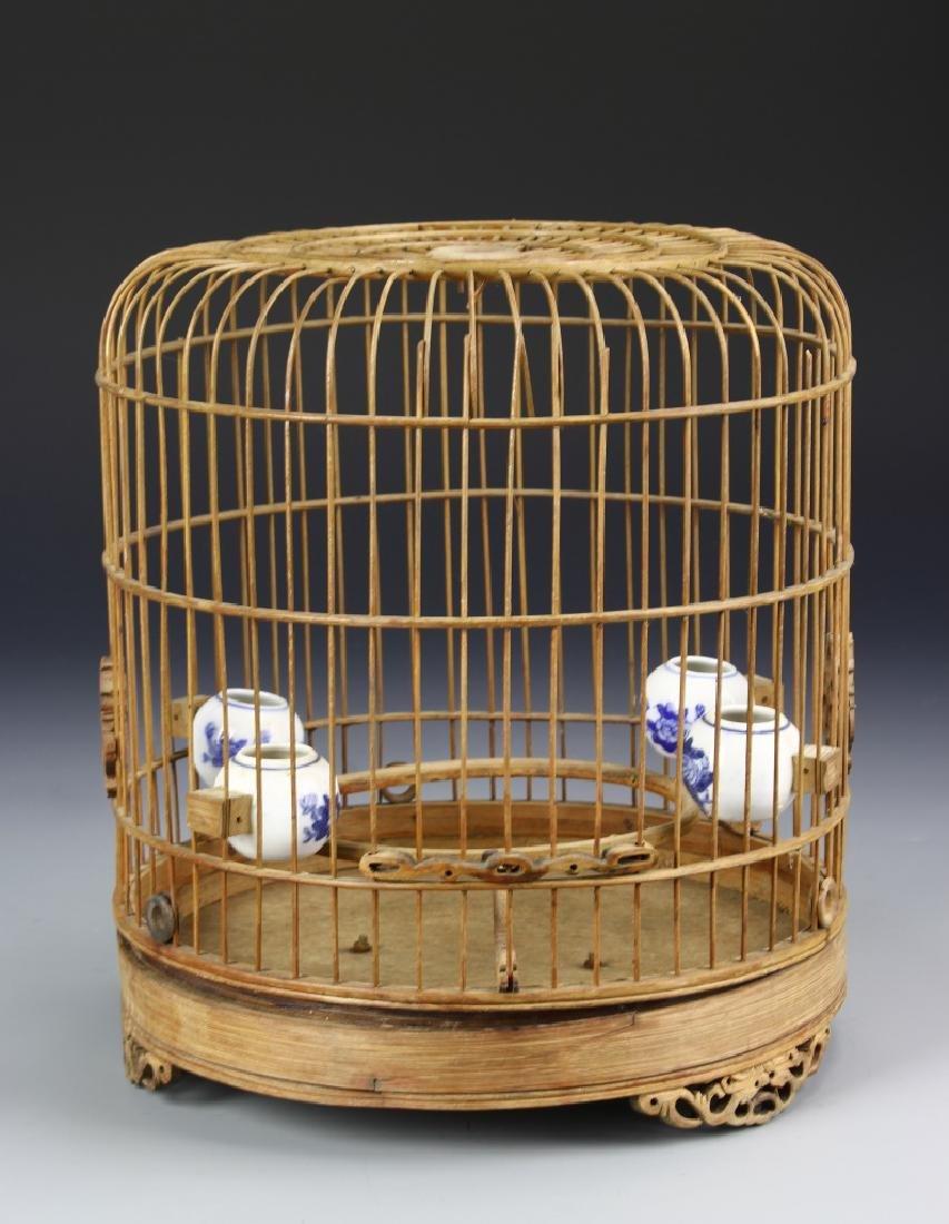 Chinese Vintage Bamboo Bird Case