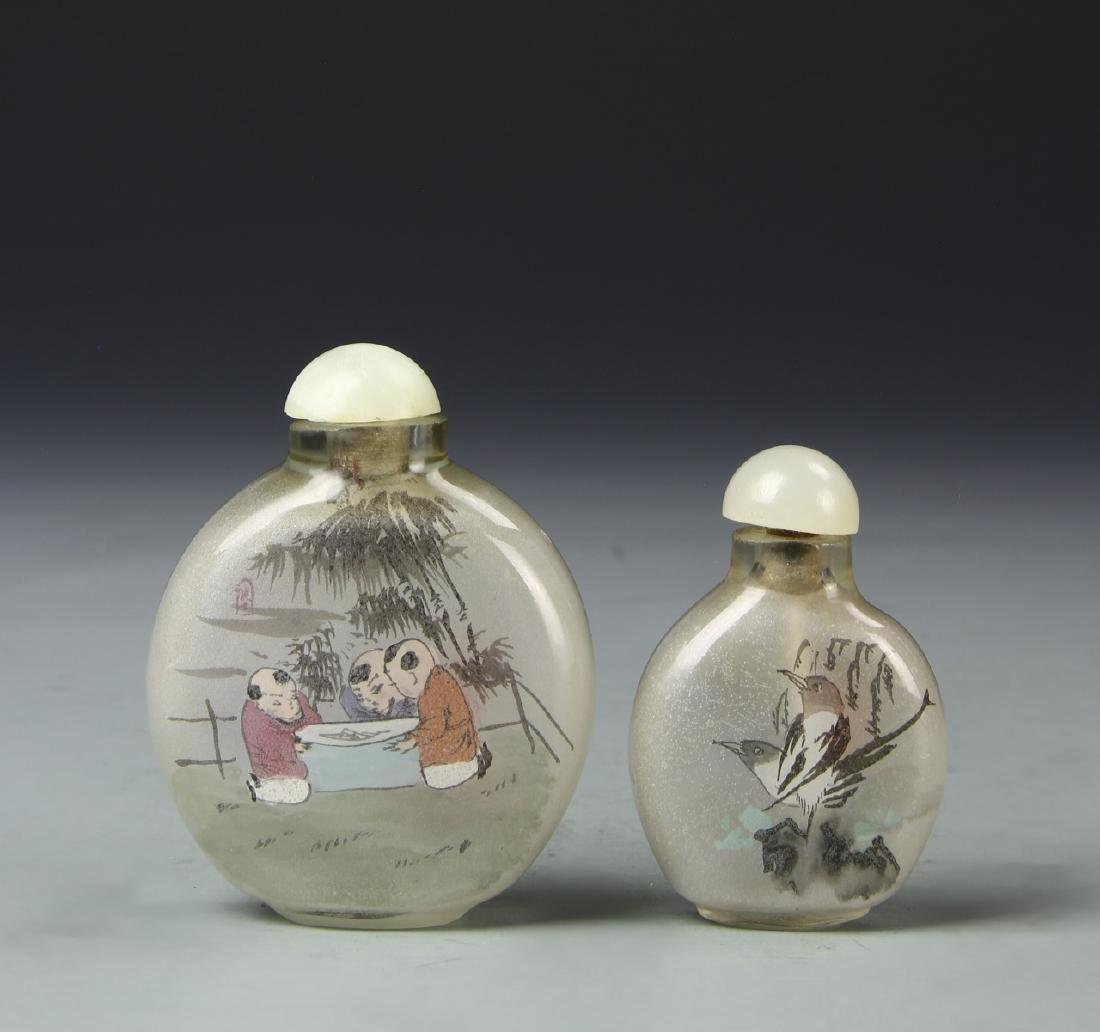 Two Chinese Inside Painted Snuff Bottles