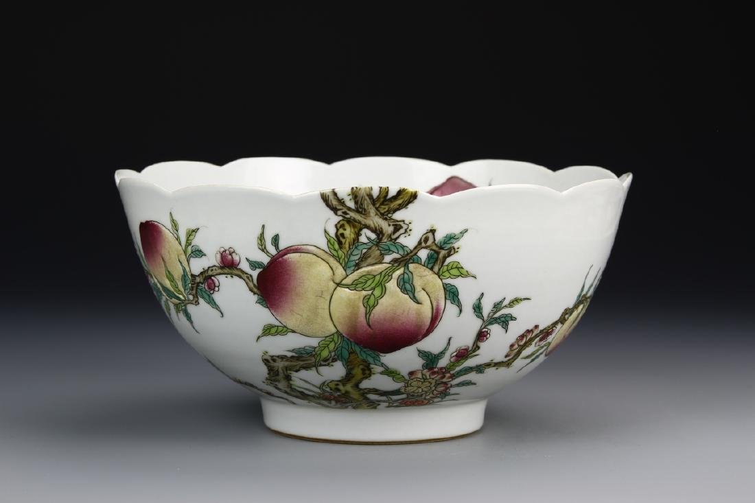 Chinese ROC Famille Rose Bowl Qianlong Mark
