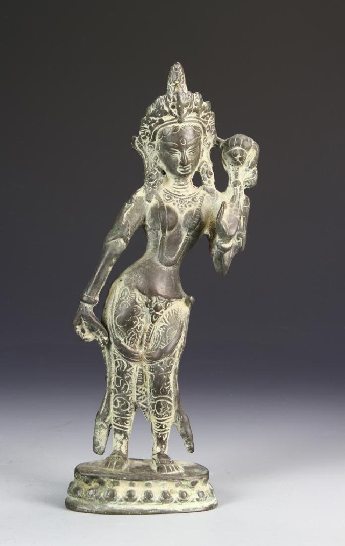 Old Tibetan Bronze of Goddess Tara
