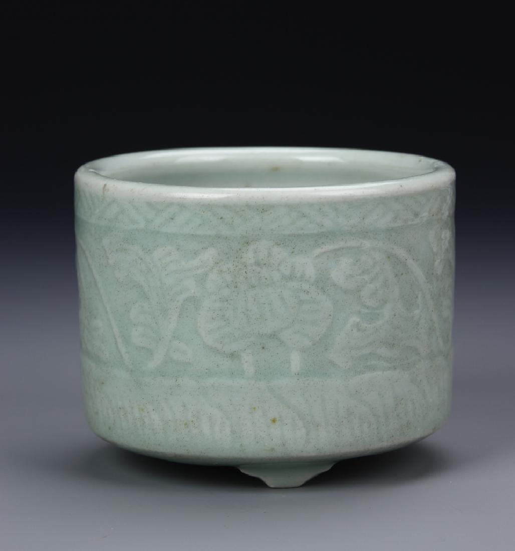 Chinese Ming Period Celadon Tripod Censor