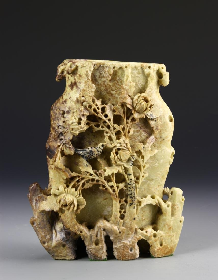 China Soap Stone Carved Vase