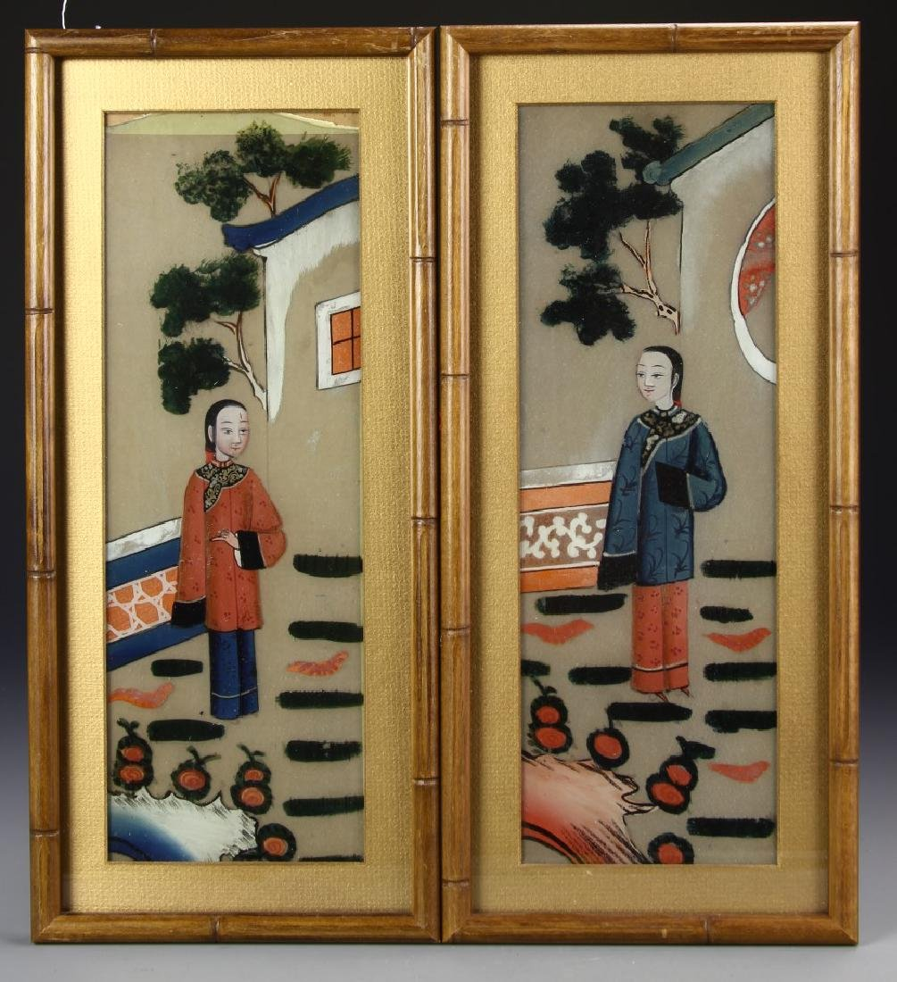 Chinese A Set Of Four Framed Paintings