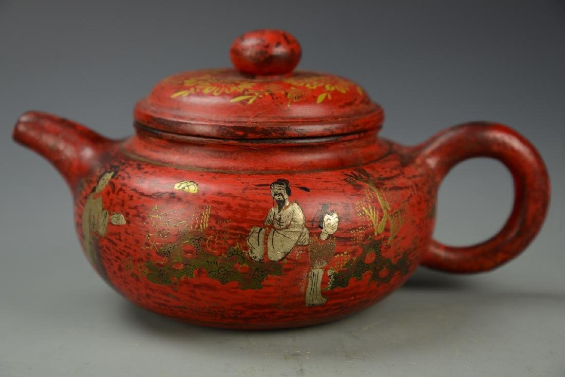 Chinese Enameled Teapot - 2