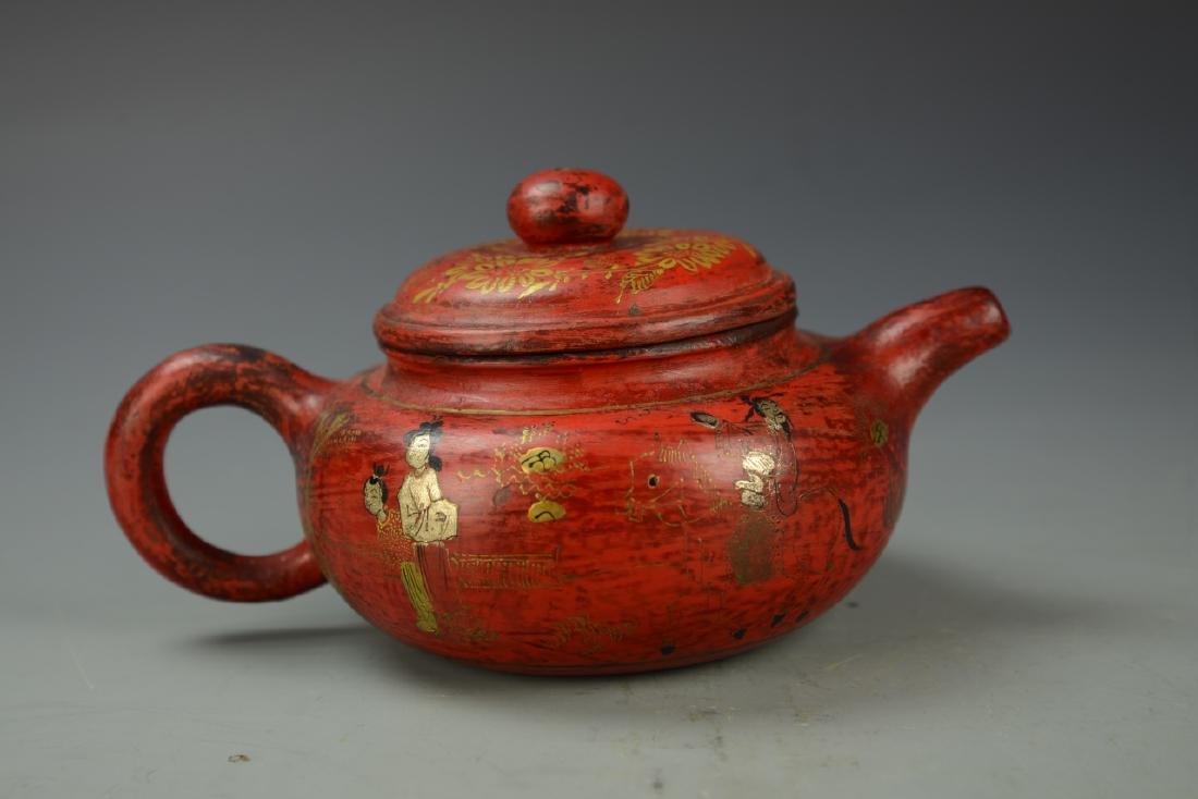Chinese Enameled Teapot - 4
