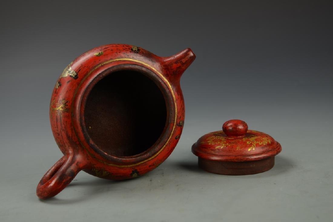Chinese Enameled Teapot - 5