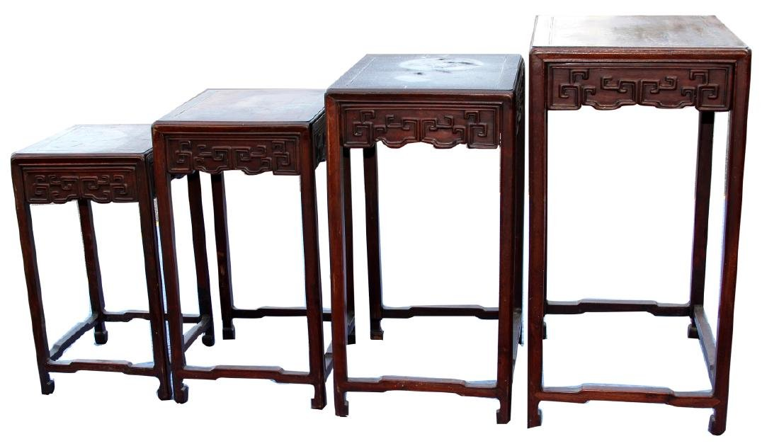 Four Chinese Huanghuali Nesting Tables