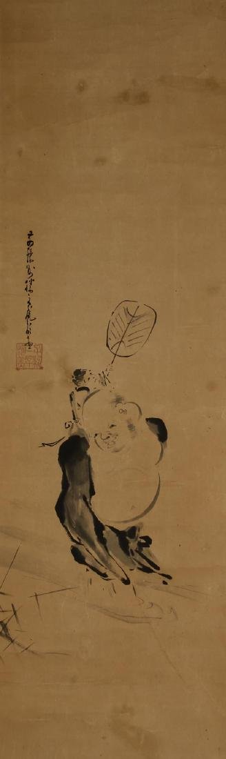 Japanese Scroll Painting of Monk